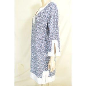 Jude Connally Dresses - Jude Connally dress L? blue, white and aqua geomet